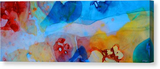 Mustard Canvas Print - The Right Path - Colorful Abstract Art By Sharon Cummings by Sharon Cummings