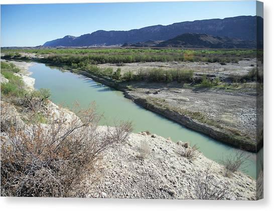 Rio Grande River Canvas Print - The Rio Grande River At Big Bend by Cameron Davidson