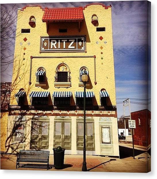 Iowa Canvas Print - The Ritz Theater by Zach Steele