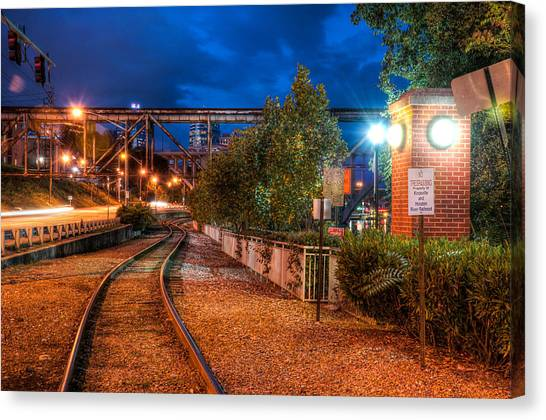 The River Railroad Canvas Print