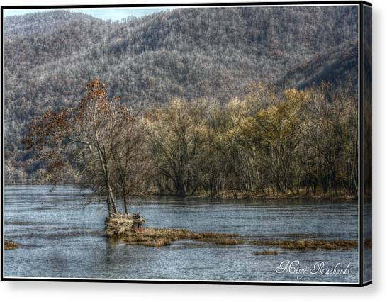 The River Runs Through It Canvas Print by Missy Richards