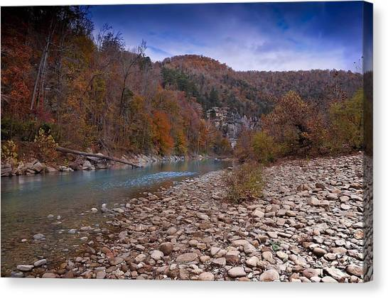 The River Runs Through Canvas Print