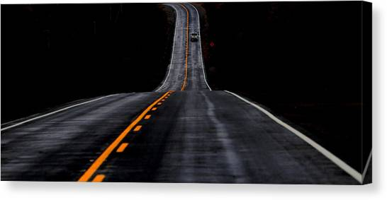 Driving Canvas Print - The Road Ahead by Ivan Huang