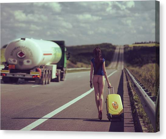 Erotic Canvas Print - The Road.... by Anri Croizet