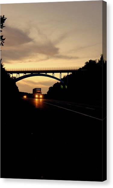 Truck Driver Canvas Print - The Road Home by Off The Beaten Path Photography - Andrew Alexander