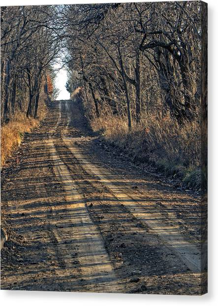 The Road Less Traveled Canvas Print by Kevin Anderson