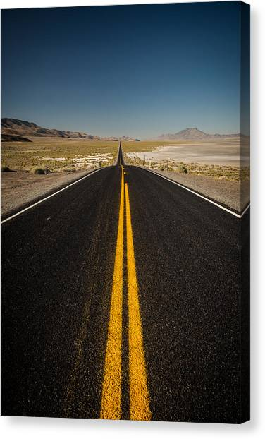 Black Rock Desert Canvas Print - The Road To Black Rock by Wayne Stadler
