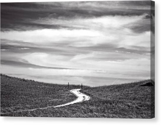 Big Sky Canvas Print - The Road To Nowhere by Peter Tellone