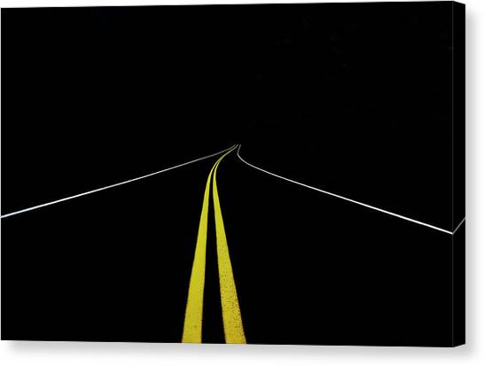 Quebec Canvas Print - The Road To Nowhere by Roland Shainidze