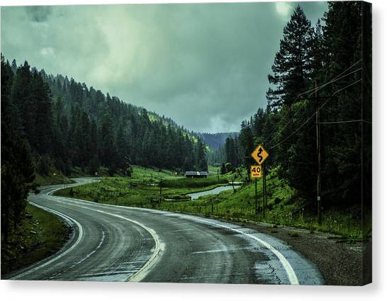 The Road To Silver Lake Canvas Print