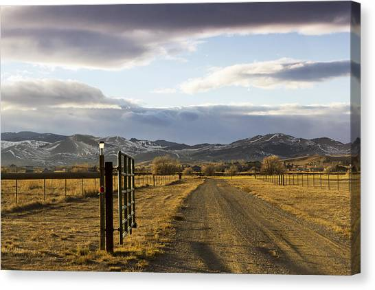 The Road To The Mountains Canvas Print by Dana Moyer