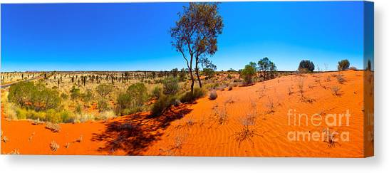 The Road To Uluru Canvas Print