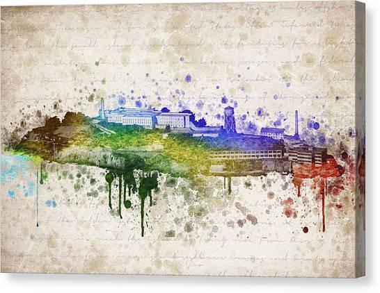 Alcatraz Canvas Print - The Rock by Aged Pixel