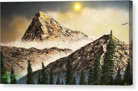 Mountain Caves Canvas Print - The Rockies by Michael Rucker