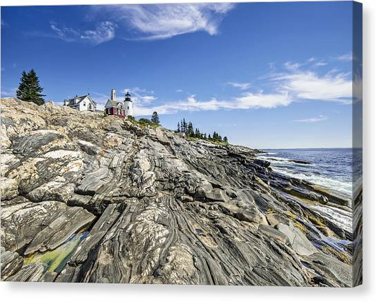 The Rocks At Pemaquid Point Maine Canvas Print