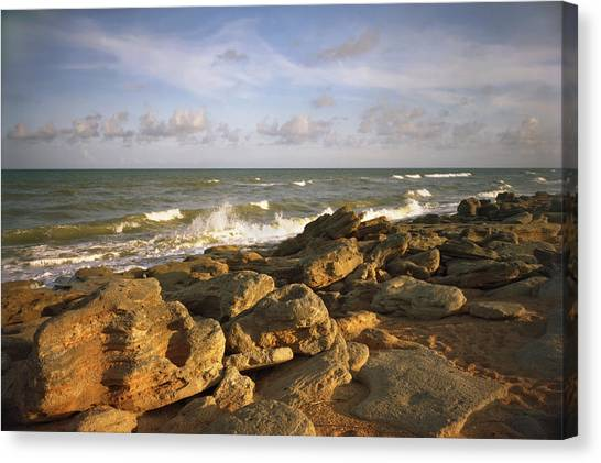 The Rocks Iv. Flagler County. Canvas Print