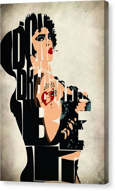 Horror Canvas Print - The Rocky Horror Picture Show - Dr. Frank-n-furter by Inspirowl Design