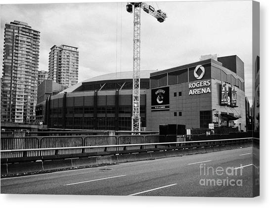 Vancouver Canucks Canvas Print - the rogers arena home to the Vancouver Canucks BC Canada by Joe Fox