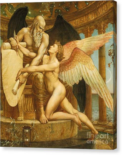 Neoclassical Art Canvas Print - The Roll Of Fate by Walter Crane