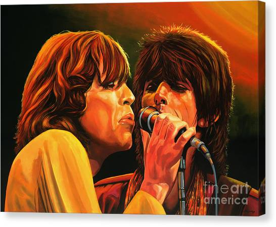 Keith Richards Canvas Print - The Rolling Stones by Paul Meijering