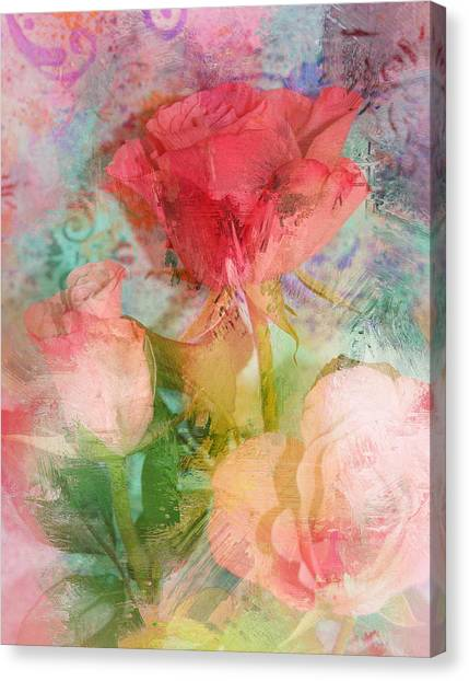 The Romance Of Roses Canvas Print