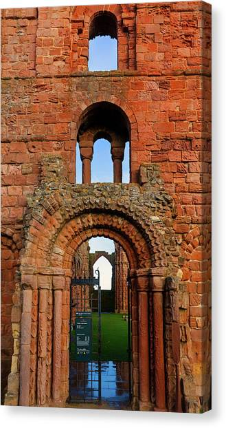 Early Christian Art Canvas Print - The Romanesque Doorway In The Monastery by Panoramic Images