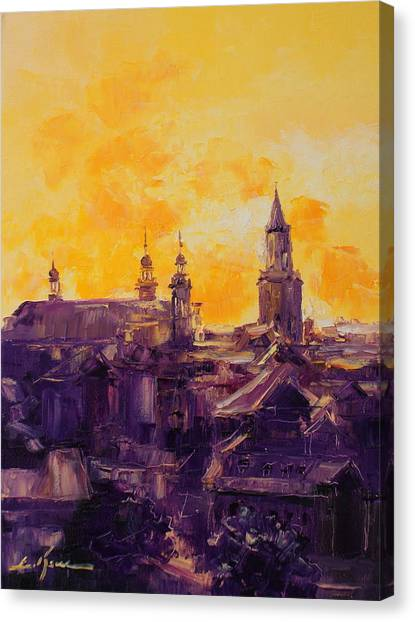 The Roofs Of Lublin Canvas Print