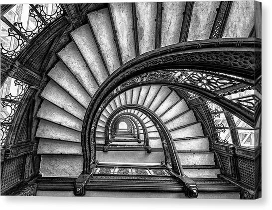 Vintage Chicago Canvas Print - The Rookery by Yimei Sun