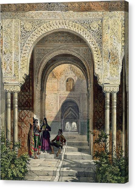 Influence Canvas Print - The Room Of The Two Sisters by Leon Auguste Asselineau