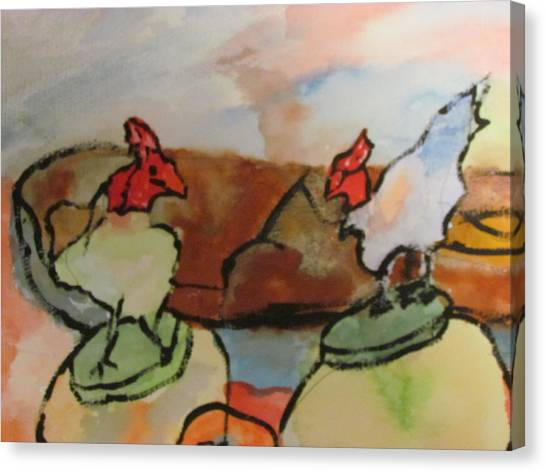 The Roosters Canvas Print