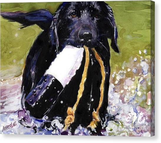 Labrador Retrievers Canvas Print - The Ropes by Molly Poole