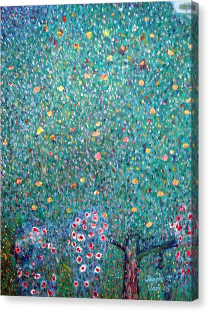 The Rose Bushes  Canvas Print by Janpen Sherwood