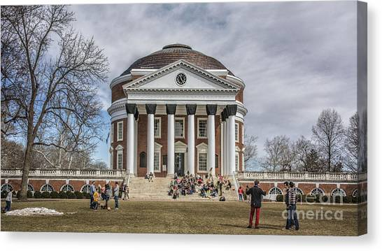 The University Of Virginia Rotunda Canvas Print