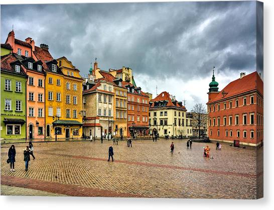 The Royal Castle Square Canvas Print