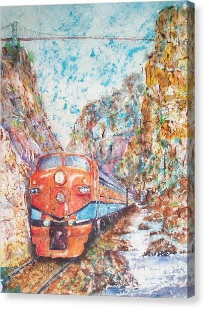 The Royal Gorge Train Canvas Print