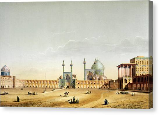 Iranian Canvas Print - The Royal Palace by Pascal Xavier Coste