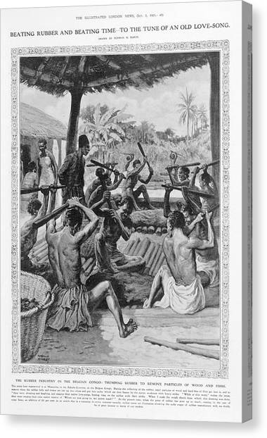 Democratic Canvas Print - The Rubber Industry In The Belgian Congo by British Library