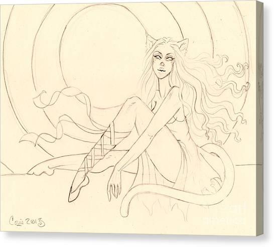 The Ruby Slipper Sketch Canvas Print by Coriander  Shea