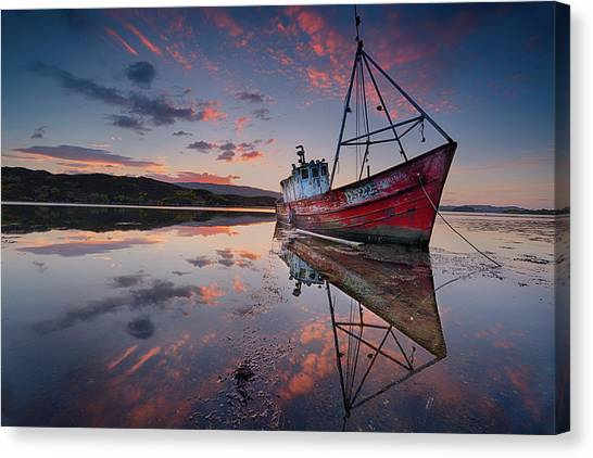 Fishing Boats Canvas Print - The Sabrina by Trevor Cole