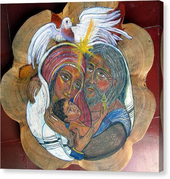 The Sacred Family Canvas Print