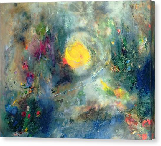 Lyrical Abstraction Canvas Print - The Sacred Spiral by Jane Deakin