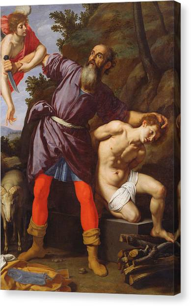 Old Testament Canvas Print - The Sacrifice Of Abraham by Cristofano Allori