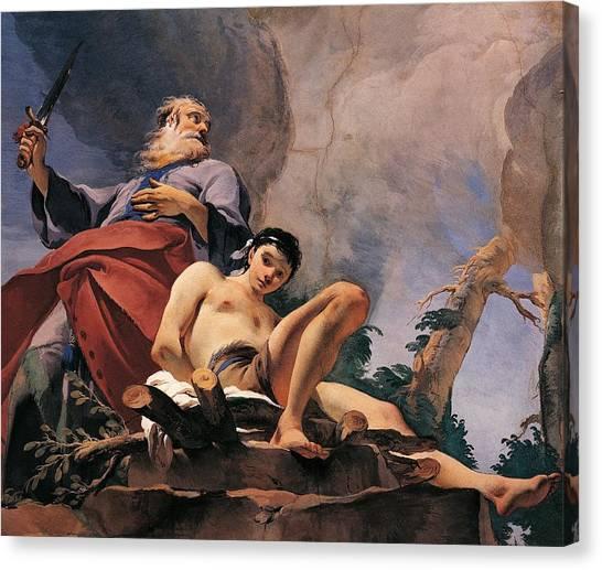 Rococo Art Canvas Print - The Sacrifice Of Isaac by Giovanni Battista Tiepolo