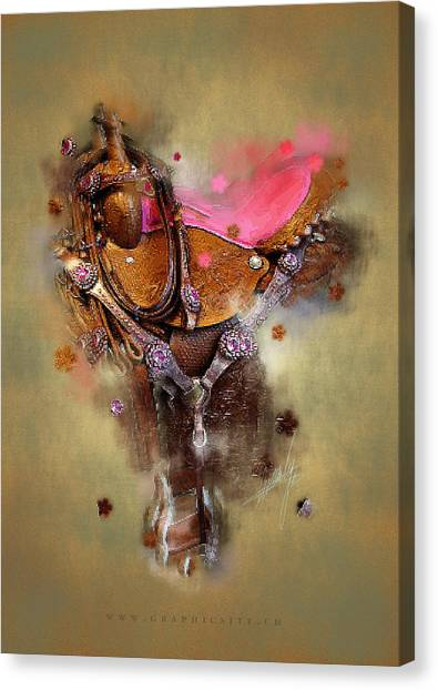 Brown Ranch Trail Canvas Print - The Saddle II by Graphicsite Luzern