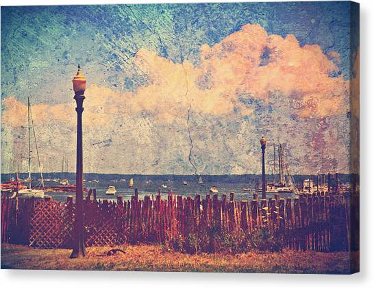 Canvas Print - The Salty Air Sea Breeze In Her Hair Iv by Aurelio Zucco