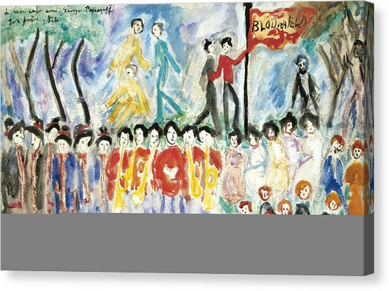 Salvation Army Canvas Print - The Salvation Army by Nils Dardel