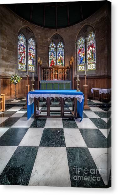 Aisle Canvas Print - The Sanctuary by Adrian Evans