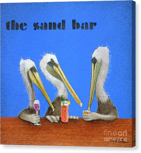 The Sand Bar... Canvas Print by Will Bullas