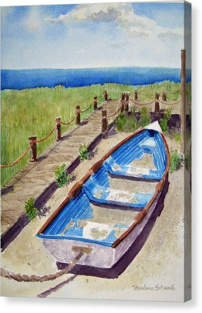 The Sandy Boat Canvas Print