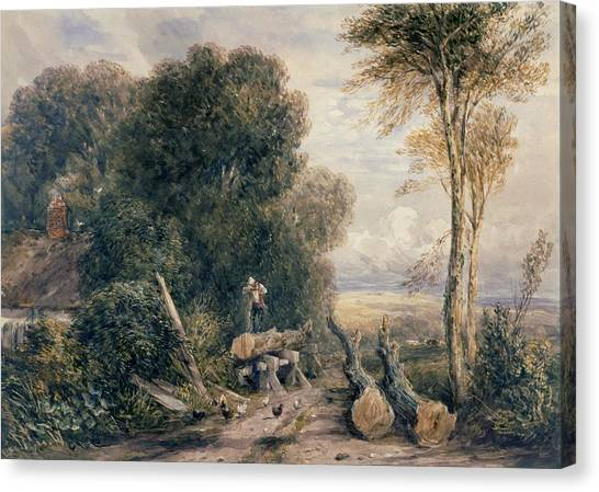 Saws Canvas Print - The Saw Pit by David Cox